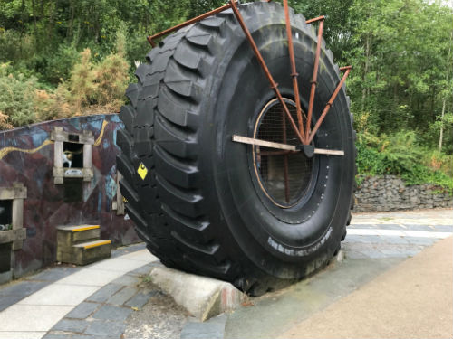 Giant tyre on Eden Project
