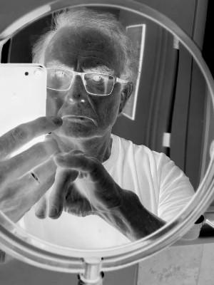 Negative of me, Peter Heywood, in a mirror