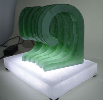 Cast glass waves by Peter Heywood