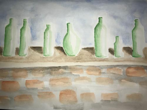 Seven green bottes