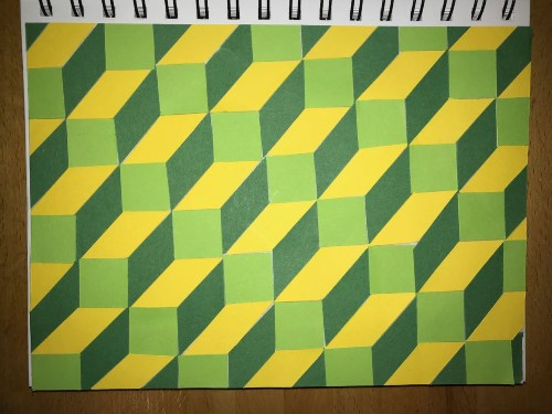 Green op art