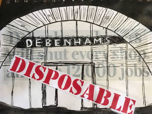 Picture of Debenham's demise