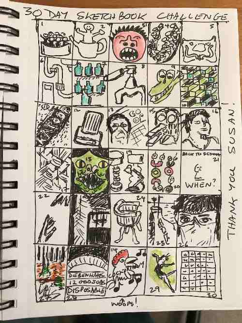 Summary of 30 Day Sketchbook Challenge