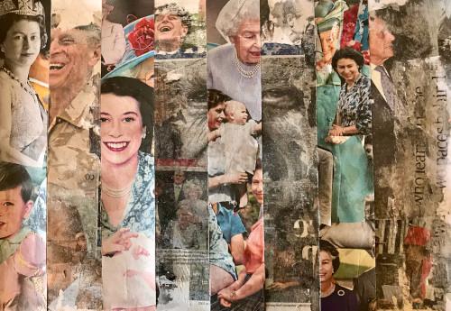Collage of Duke of Edinburgh (RIP) and Queen Elizabeth