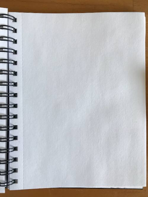 Blank page in a sketch book