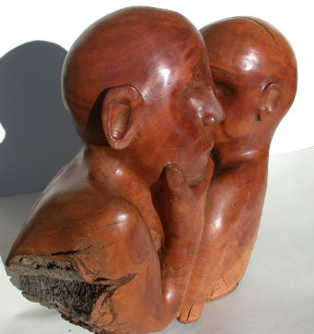 Wooden sculpture carved by Peter Heywood in 2010