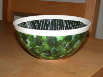 Painted bowl by Peter Heywood