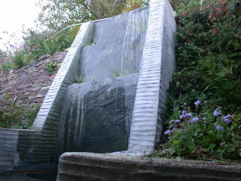 Cascade in the garden of Sythe House, designed by Peter Heywood