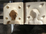Completed plaster moukd for slip casting heads for later modification