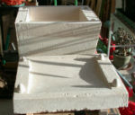 Completed plaster cast for slip-casting segments in ceramic hollow ring project by Peter Heywood