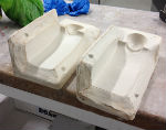 Second mould for slip-casting ceramic figures for Peter Heywood's Faces project
