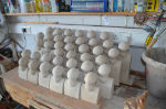 38 slip cast figures for Peter Heywood's