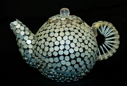 Teapot made from nails