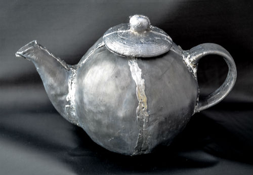 Completed teapot made from lead