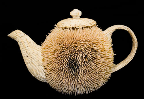 teapot made from cocktail sticks