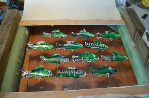 Fish made from drink cans
