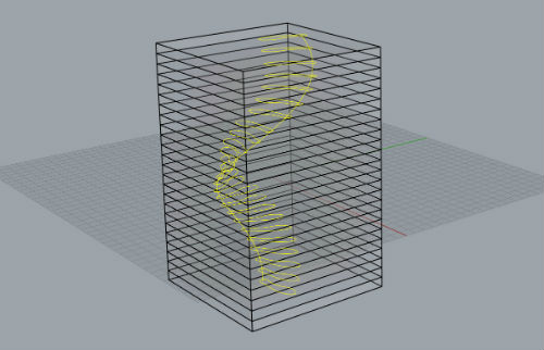 CAD model of glass sculpture