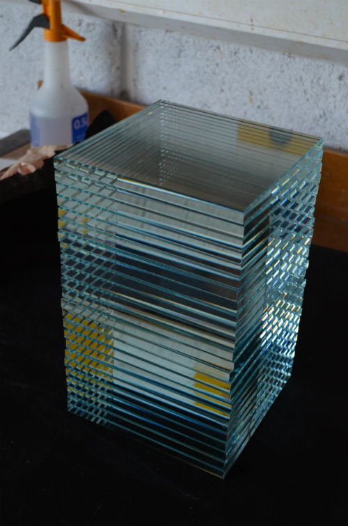 Stack of glass