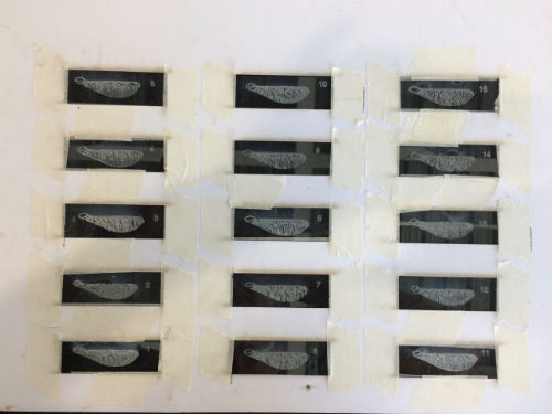 Etching microscope slides on a laser cutter