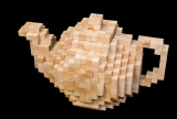 Teapotty: Cubes of beech-wood